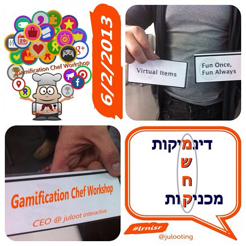 Gamification Chef Workshop Invited for the 20th Israeli Annual Learning and Institution conference.